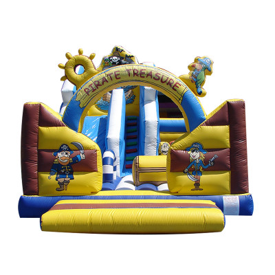 Pirate Inflatable Bouncy Castle Slide