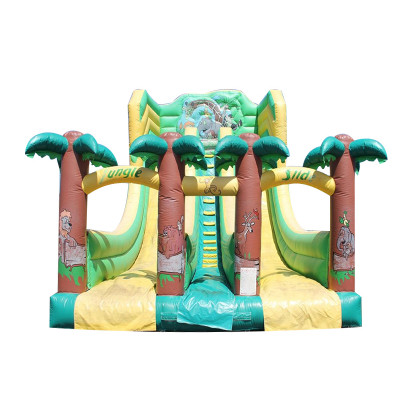 Inflatable Toboggan Pistes Jungle